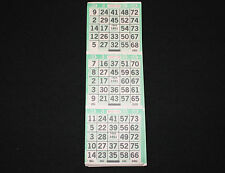 "BINGO PAPER Cards 3 on Letter ""X"" pattern Green 200 sheets FREE Priority SHIP"