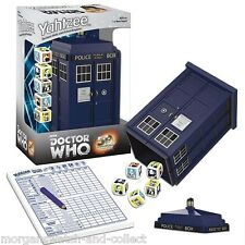 DOCTOR WHO YAHTZEE 50th Anniversary *SEALED* Collector's Edition TARDIS DICE CUP