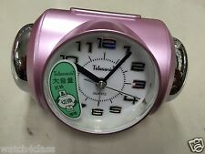 [Telesonic]CRAZY Super LOUD Bell Alarm snooze Clock PRL+Free Ship~MADE in TAIWAN