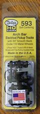 "HO Scale - KADEE 593 ARCH BAR Electrical Pickup Caboose Trucks 33"" Smooth Wheels"