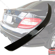 Painted 040 Black Mercedes Benz C300 W204 4DR A-Type Rear Trunk Spoiler