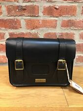 DR MARTENS 11'' BLACK SMOOTH LEATHER SATCHEL