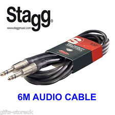 "Stagg sac6ps di alta qualità Cavo Audio DELUXE - 6m (20ft) 1/4"" Jack Stereo A Jack"