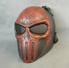 Red Airsoft Paintball CS ABS Full Face Protection Skull Mask Simple Practical