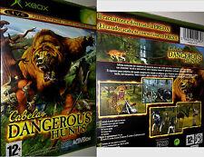 XBOX Live Spiel Cabelas DANGEROUS HUNTS Jagdspiel Tierspiel Ausrüstungen Neu OVP