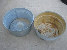 2 pc Vintage Used Laundry / Water Round Tub Wash Tub good for Flower Pot only #1
