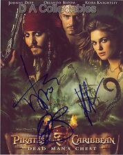 PIRATES OF THE CARIBBEAN - MULTI SIGNED PROMO PHOTO by DEPP, BLOOM & KNIGHTLEY
