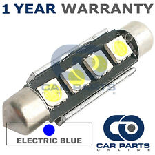 1X BLUE CANBUS NUMBER PLATE INTERIOR 4 SUPER BRIGHT SMD LED BULBS 44MM 10BX1