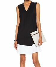 Victoria Victoria Beckham $895 Asymmetric Black White Shift Dress