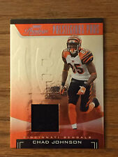 2006 Playoff Prestige CHAD JOHNSON Game Used Jersey Relic Football Card