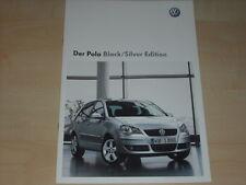47166) VW Polo 9N Black Silver Edition Prospekt 04/2008