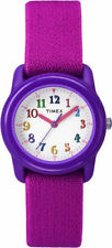 Kids Timex Time Teacher Pink Elastic Fabric Band Watch TW7B99400