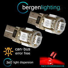 2X W5W T10 501 CANBUS ERROR FREE RED 5 LED COURTESY LIGHT BULBS HID IL101301