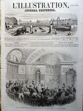 L' ILLUSTRATION 1854 N 580 ANNONCE DE L' ETAT DE GUERRE AVEC LA RUSSIE AU SENAT