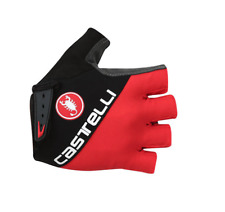Castelli Adesivo Cycling Gloves Padded Fingerless Red/Black Large New