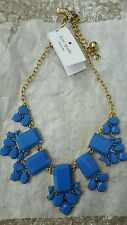 NWT Kate Spade New York Daylight Jewels Statement Necklace Blue