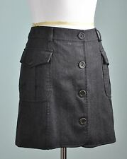 MOSCHINO Cheap and Chic $325 100% Wool Button Up Lined Mini Skirt Size 8