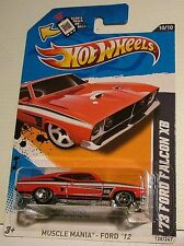 HOT WHEELS 2012 MUSCLE MANIA ' 73 Ford Falcon XB GT 351 V8 Metallic RED