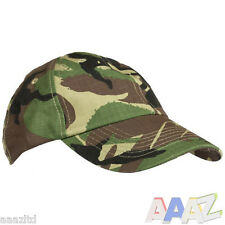 MENS ARMY CAP CAMO COTTON HAT CAMOFLAUGE BASEBALL FISHING HIKING AIRSOFT DPM