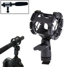 Camera Mic Microphone Shock Suspension Mount Clip Holder w/ Hot Shoe Fr DSLR Rig