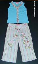 NWT BABY NAY PINK TANGERINE Madame Butterly 2pc Ruffle Tank Stripe Pants Set 5
