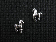 HORSE .925 Sterling Silver Stud Earrings - FREE SHIPPING & Gift Box!!
