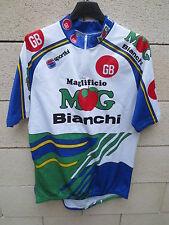 VINTAGE Maillot cycliste GB MG BOYS MAGLIFICIO BIANCHI maglia Tour 1992 jersey