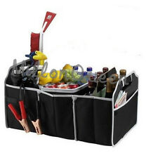 Heavy Duty Car Boot Organiser Collapsible Shopping Folding Storage  No Mess