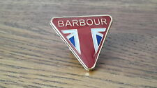 A quality  Barbour international - triumph waxed motorcycle jacket pin badge