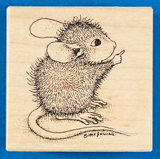 House Mouse AMANDA POINTS Rubber Stamp - Cute Little Mouse - Stampa Rosa 107