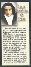 Estampa de Sor Maravilla de Jesus andachtsbild santino holy card santini