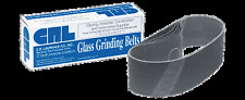 """3"""" x 21"""" 80X Grit Glass Grinding Belts for Portable Sanders - 10"""