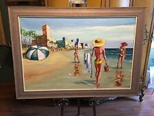 DEAN CLOSE  ORIGINAL OIL PAINTING ( DOMINICAN REPUBLIC 57 ) 1957