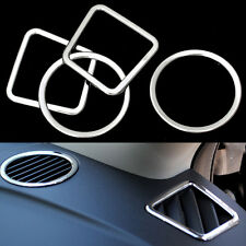 Chrome 4pcs Interior Air Condition Vent Cover Trim for COMPASS 2011- 2016 Car
