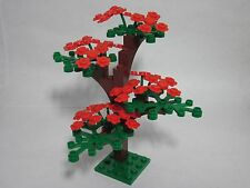 LEGO Spring red flower custom tree, green leaves, new parts, FREE U.S. Ship!