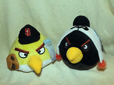 Lot Of 2 Angry Birds San Francisco Giants Plush Doll MLB Baseball NWT