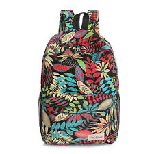Girls Womens Vintage Backpack Canvas Rucksack Shoulder School Bags Work Packsack