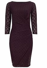 BNWT Phase Eight /8 Claret Textured Heart Dress Size 18