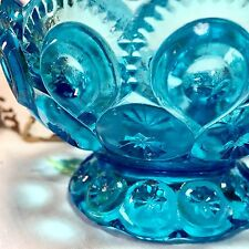 Vintage Blue Depression Glass Candy Dish
