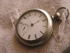 Antique Springfield Illinois Columbia Key Wind Pocket Watch