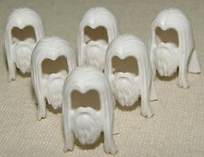 LEGO LOT OF 6 GANDALF THE WHITE BEARD LORD OF THE RINGS MINIFIG HAIR WIG PIECE
