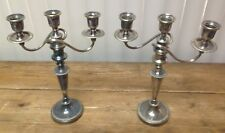 Pair Candelabras Mappin Webb London Sheffield Silver Antique Fantastic 1890's