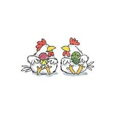 PENNY BLACK RUBBER STAMPS  FUNNY EGGS CHICKEN NEW STAMP