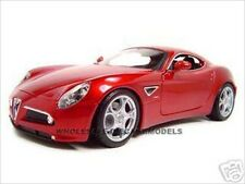 ALFA ROMEO 8C COMPETIZIONE RED 1:18 DIECAST MODEL CAR BY BBURAGO 12077