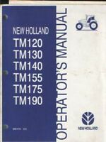 New Holland Tractor TM120 TM130 TM140 TM155 TM175 TM190 Operators Manual