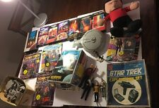 Huge Star Trek Lot Of 9 Figures 7 VHS 1 Plush Toy 2 Ships & Set Parts ASIS VTG