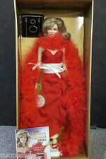 """Franklin Mint Vanna White Lady In Red Vinyl Portrait Doll 16"""" REDUCED!"""