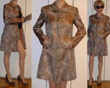 DStudio 100% SILK ANIMAL LEOPARD CHEETAH PRINT LIGHT COAT LONG JACKET 4 S XS