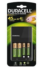 DURACELL 4 ore AA / AAA Battery Charger (include 2 x BATTERIE AA) CEF14