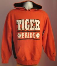 VTG Mens BADGER SPORT TIGER PRIDE Orange USA Hooded Sweatshirt Size Medium